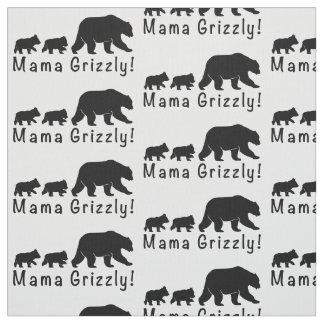 Tecido Urso e Cubs do Mama urso