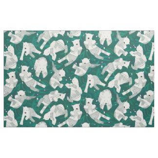 Tecido verde ártico dos ursos polares