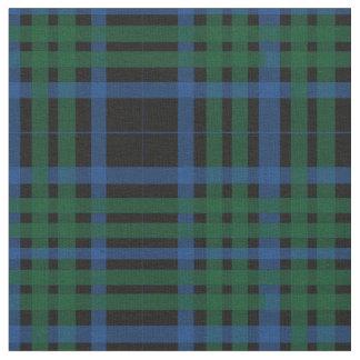 Tecido verde & azul do teste padrão da xadrez