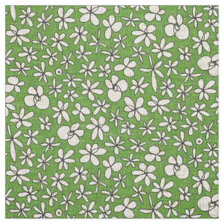Tecido verde das flores de festão
