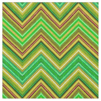 Tecido verde de Fractalius Chevron N-S