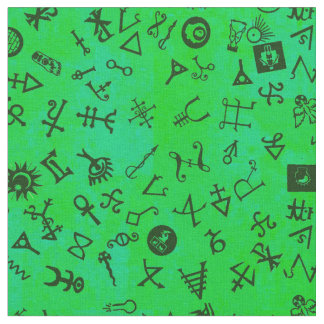 Tecido Verde do trevo de Symbolicon