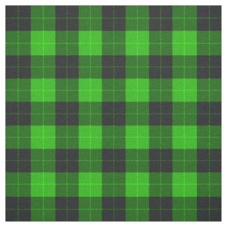 Tecido Verde e preto do teste padrão de /tartan da xadrez