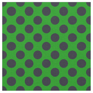 Tecido verde & preto das bolinhas