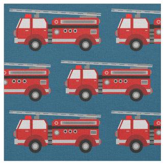Tecido vermelho do azul do carro de bombeiros