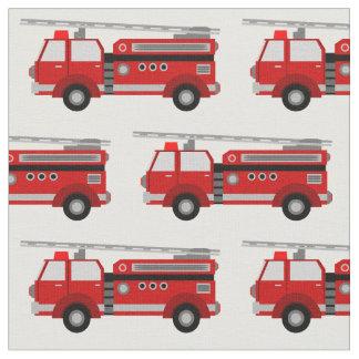 Tecido vermelho do carro de bombeiros