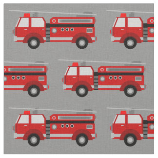Tecido vermelho do cinza do carro de bombeiros