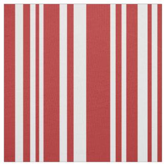 Tecido Vermelho misturado moderno e o branco listram o