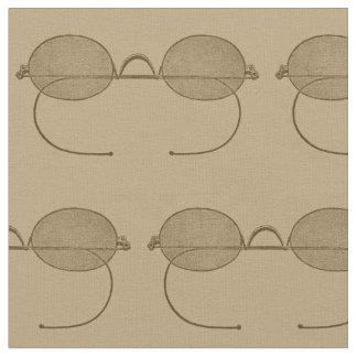 Tecido Vidros retros bege dos Eyeglasses antigos dos