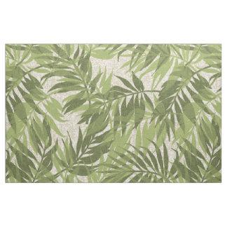 Tecido Vintage tropical havaiano das palmas da areca
