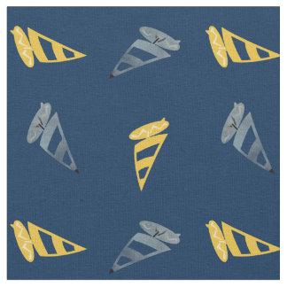 Tecido Windsurfing azul amarelo legal do esporte