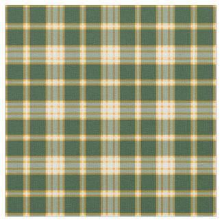 Tecido Xadrez desportiva do ouro verde escuro e amarelo