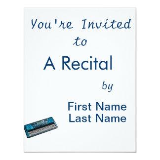 teclado blue.png eletrônico convite personalizado