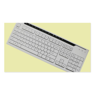 teclado de computador cartão de visita