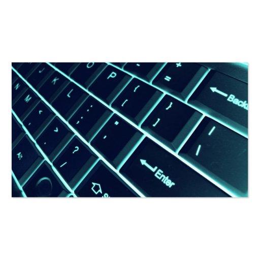 teclado de computador cartoes de visitas