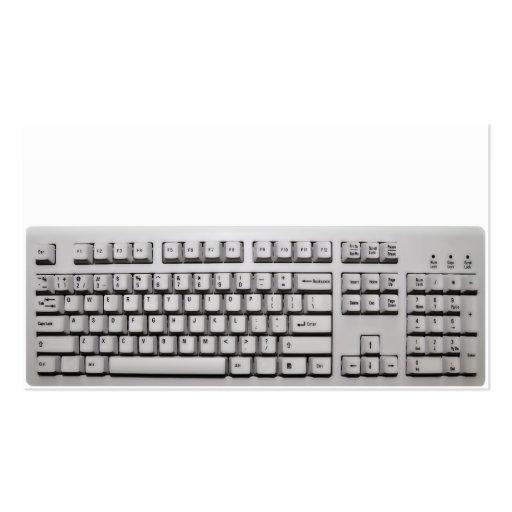 teclado de computador modelo cartoes de visita