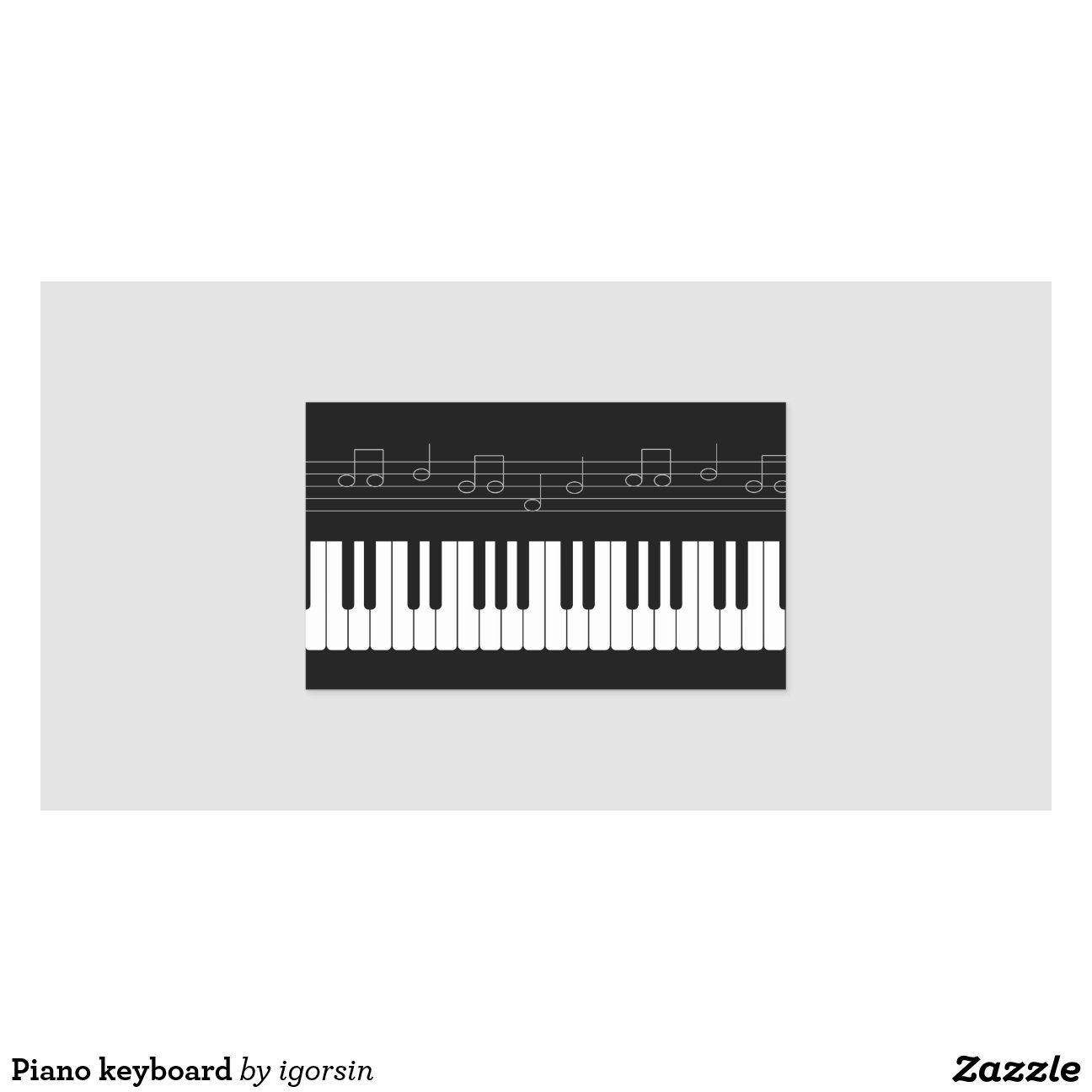 Aparador Madeira ~ Teclado de piano adesivo retangular Zazzle