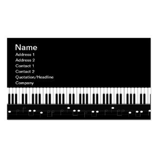 Teclado de piano modelos cartões de visita