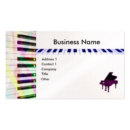 Teclado de piano cartões de visita