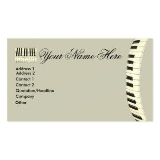 Teclado de piano cartões de visitas