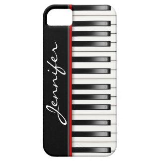 Teclado de piano com nome capas para iPhone 5