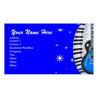 Teclado de piano da guitarra & cartão de visita az