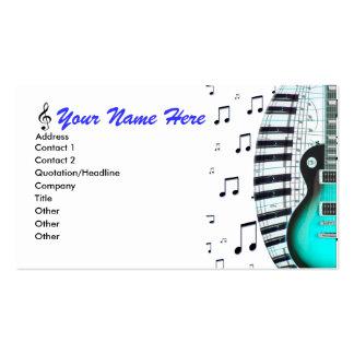 Teclado de piano da guitarra do Aqua & cartão de v Cartão De Visita