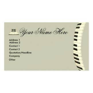 Teclado de piano de cauda modelo cartões de visita