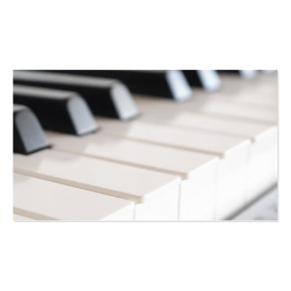 Teclado de piano de Digitas Cartoes De Visitas