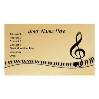 Teclado de piano do G-Clef Modelos Cartões De Visitas