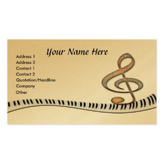 Teclado de piano do G-Clef Cartão De Visita
