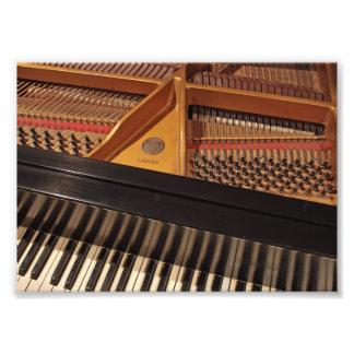 Teclado de piano do vintage impressão de foto