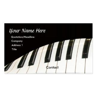 Teclado de piano e cartão de visita do piano de ca