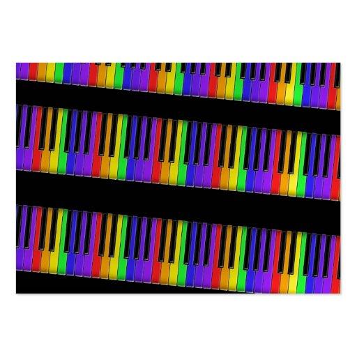 teclado do arco-íris modelo cartoes de visitas