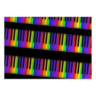 teclado do arco-íris cartão de visita grande