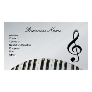 Teclado do G-Clef & de piano Cartão De Visita