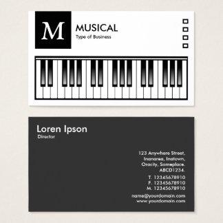 Teclado - logotipo e painel v2 - preto cartão de visitas