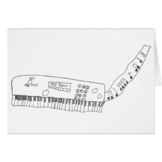 teclado & música cartão comemorativo