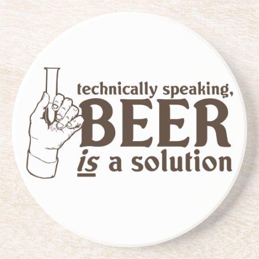 Tecnicamente falando, a cerveja é uma solução porta copos