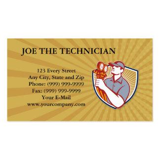 Técnico da refrigeração modelo de cartões de visita