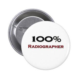 Técnico de radiologia de 100 por cento bóton redondo 5.08cm
