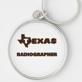 Técnico de radiologia de Texas Chaveiro Redondo Na Cor Prata
