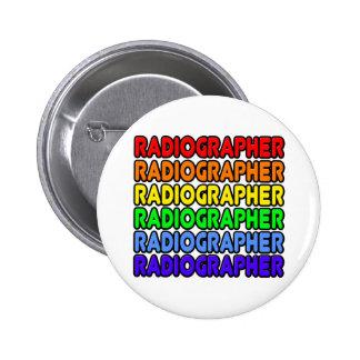 Técnico de radiologia do arco-íris bóton redondo 5.08cm