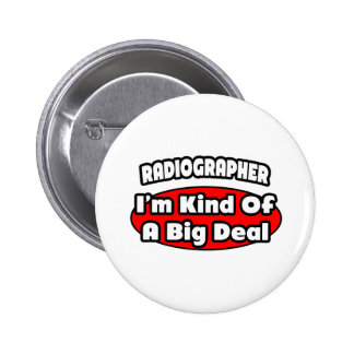 Técnico de radiologia. Grande coisa Bóton Redondo 5.08cm