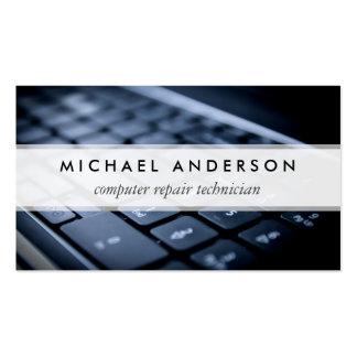 Técnico de reparo do computador portátil do cartão de visita