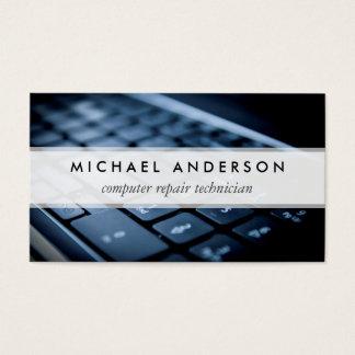 Técnico de reparo do computador portátil do cartão de visitas