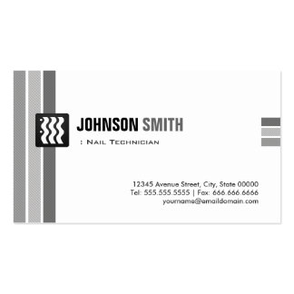 Técnico do prego - branco preto criativo cartão de visita