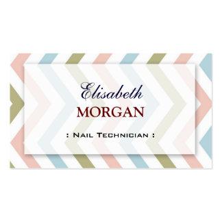 Técnico do prego - Chevron gracioso natural Cartão De Visita