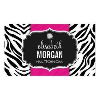 Técnico do prego - impressão bonito da zebra cartão de visita