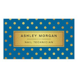 Técnico do prego - pontos do ouro dos azuis cartão de visita